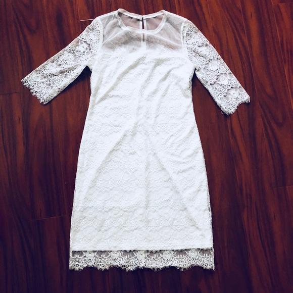 BCBGMaxAzria Dresses & Skirts - BCBG Lillian White Lace Dress